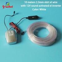 10 Renkler Choice 10 M 2.3mm-Etek Beyaz EL Tel Halat Tüp Araba Için esnek Neon Işık Dahili Ses ile Düğün Dekor aktif