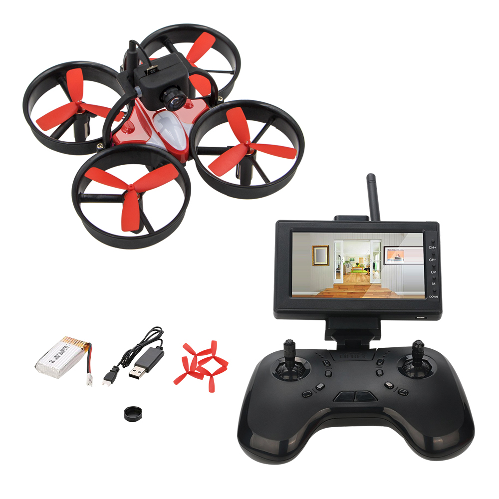 Mini Birdy 1060 RC Drone Remote Control Racing Qudcopters Equipped With 600TVL HD Camera FPV 40CH LCD Monitor Receiver Drones happy cow 777 218 remote control mini rc racing boat model