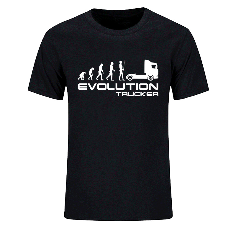 New Fashion Summer T Shirt Evolution Trucker Lorry HGV Driver Scania V8 Present Gift T-Shirts