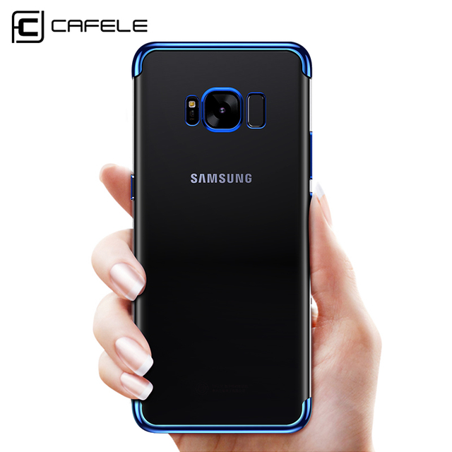 new concept 10854 8b2c5 US $4.99 |CAFELE New For Samsung Galaxy S8 Case S8 Plus No Fingerprint  Plating Soft TPU Transparent Cover Case For Galaxy S8 Edge Case-in Fitted  Cases ...