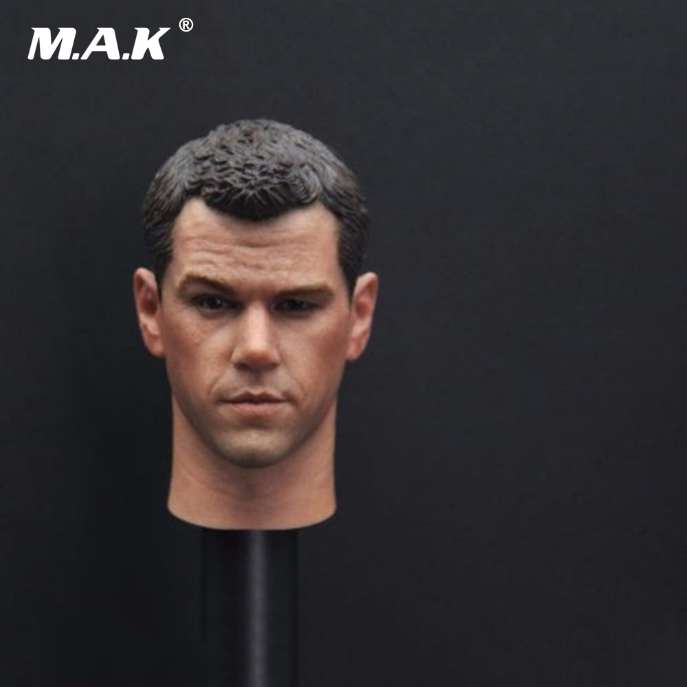 1/6th Scale Matt Damon Head Sculpt The Older Version Darker for 12 Male Action Figure Body купить