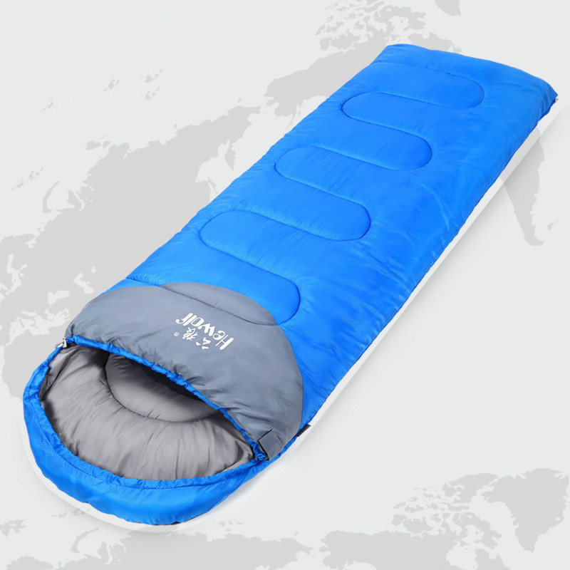 Ultralight Sleeping Bag Outdoor Camping Sport Adult Envelope Hooded Cotton Splicing Autumn Winter Single Sleeping Bags стоимость