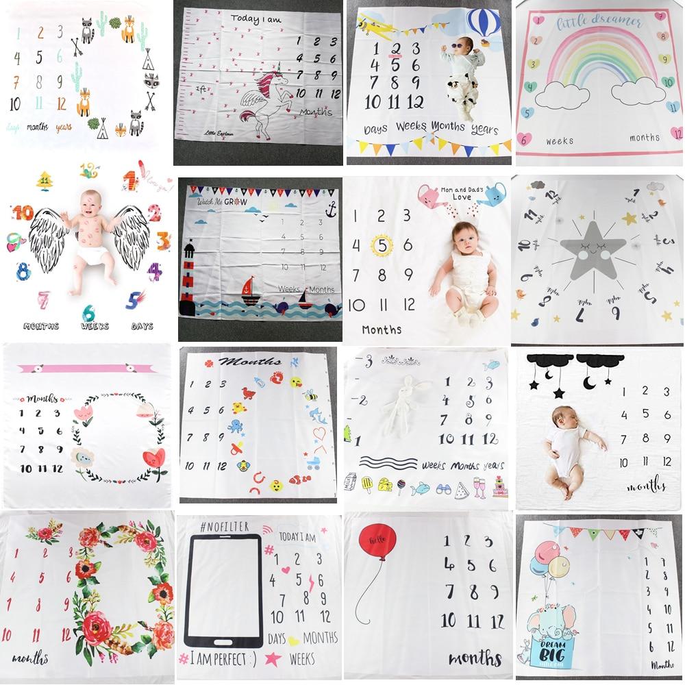 Patrón de dibujos animados para bebés pequeños, utilería de fondo para fotografía, mantas, juegos, esteras, telón de fondo, calendario, foto, accesorios nórdicos