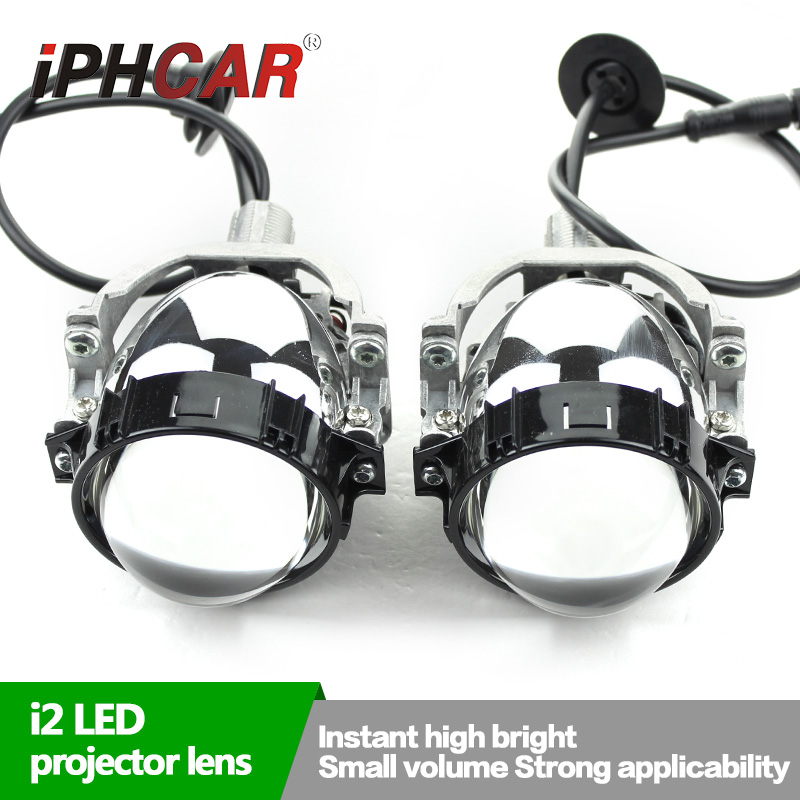 Free Shipping IPHCAR LED Projectot Shroud Universal Car Styling 3.0 Inch LED Bi Projector Lens for H1 H4 H7 H11 Car Kit
