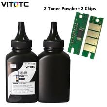 Для Ricoh SP 150su SP150 150 SP150su SP150w SP150suw SP150su SP150w, Заправляемый Тонер, 2 тонера для бутылок + 2 чипа для картриджей