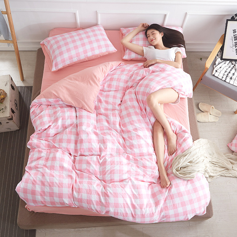 Hot Reactive Printing Bedding Set Grey Love Letter Soft Comfortable Bed Family 3 4pcs Queen Full Twin Fast Shipping