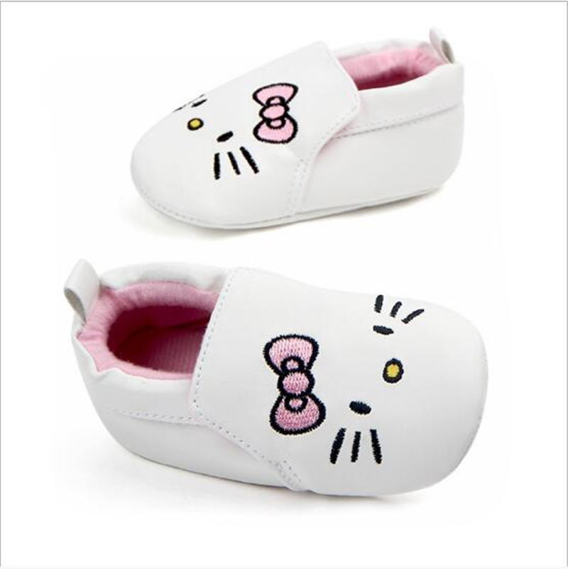 Lovely Cartoon Baby PU Shoes First Walkers Infants Girls Crib Shoes