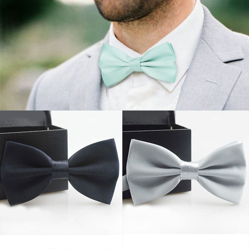 HEALMEYOU Bow Ties For Men Bowtie Red Black White Butterfly