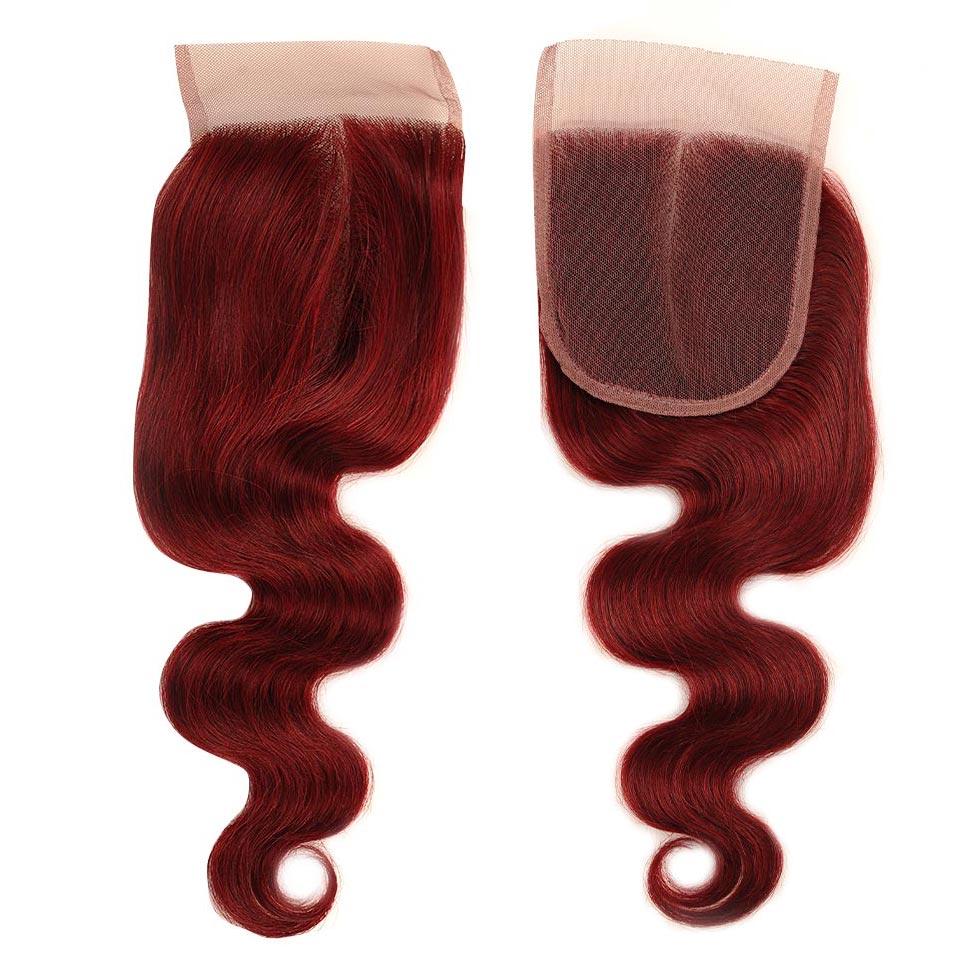 HTB1XtjHj3fH8KJjy1zcq6ATzpXaO Pinshair 99J Hair Red Burgundy Bundles With Closure Brazilian Body Wave Human Hair Weave Bundles With Closure Non Remy No Tangle