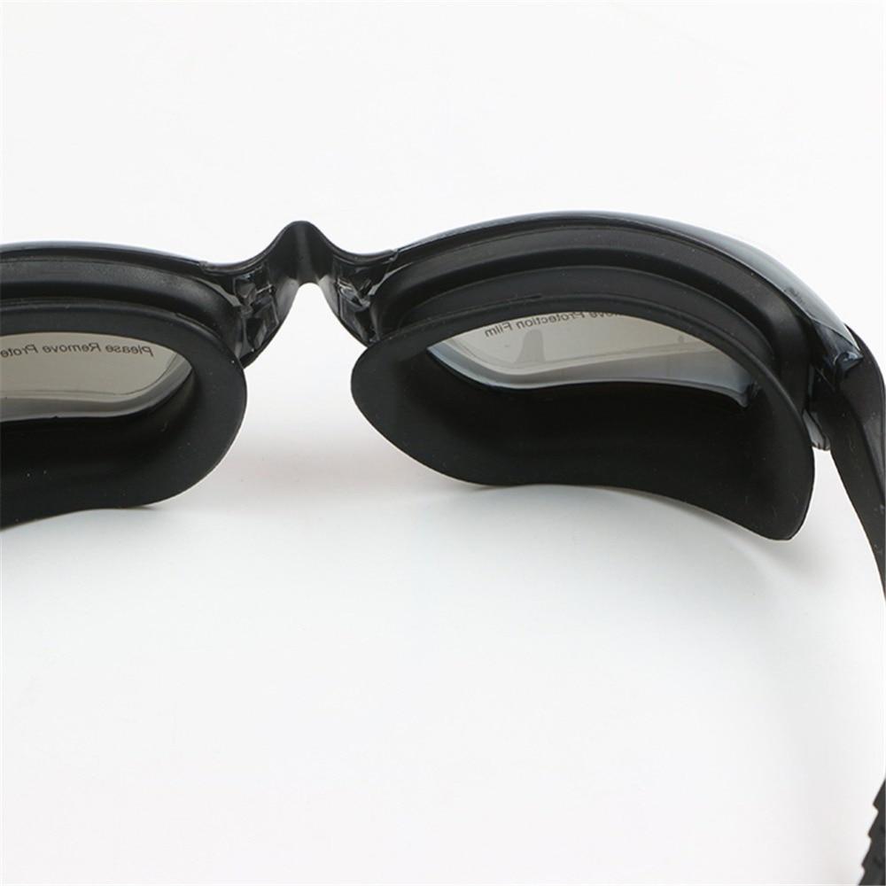 professional silicone myopia swimming goggles anti-fog uv swimming glasses with earplug for men women diopter sports eyewear