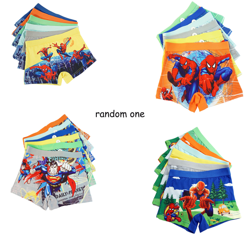 Cool Marvel Boys Cotton Underwear Movie Comic Boxers Underpants Super Hero Spiderman Kids Cotton Panties Male Under Wear Briefs
