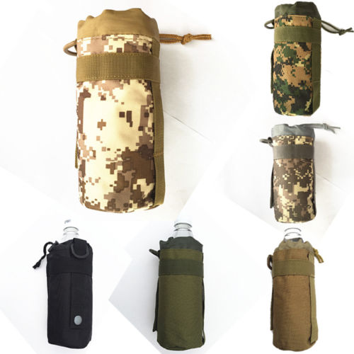Outdoor War Game Activities  Water Bottle Pouch Bag Travel Zipper Storage Bag
