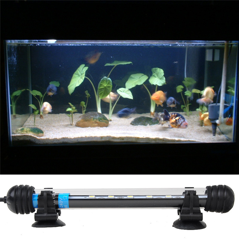 Aquarium fish tank spot light 29cm smd5050 12 led white for Fish tank led light bar