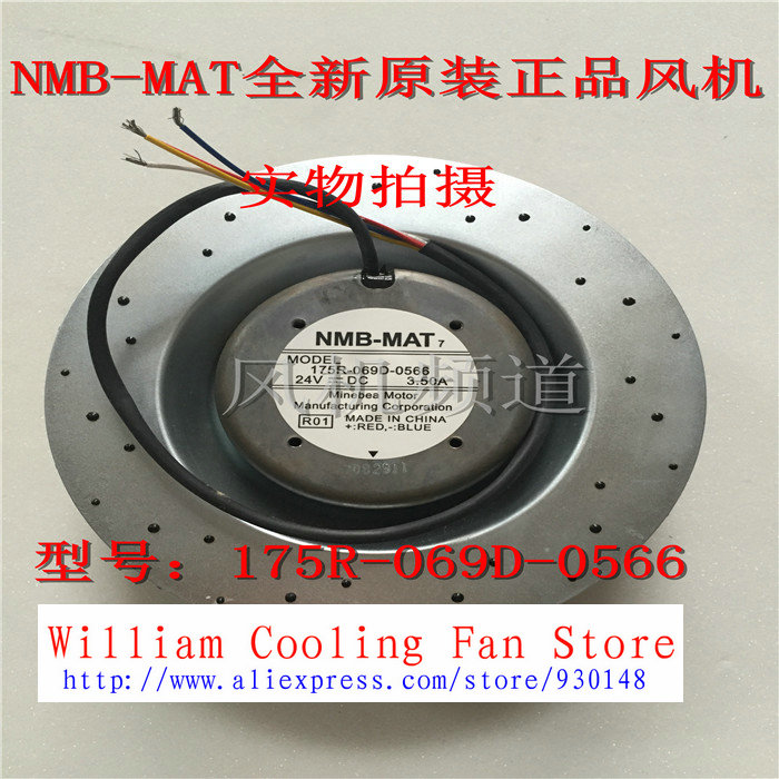 New Original NMB 175R-069D-0566 24V 3.5A for MITSUBISHI inverter centrifugal fan mitsubishi 100% mds r v1 80 mds r v1 80