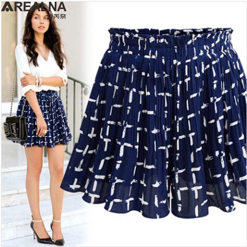 2018 Summer High Waist floral Women's Skirt   Shorts   feminino Fashion Chiffon sexy Wide Leg   shorts   women HotPants Plus Size 5XL