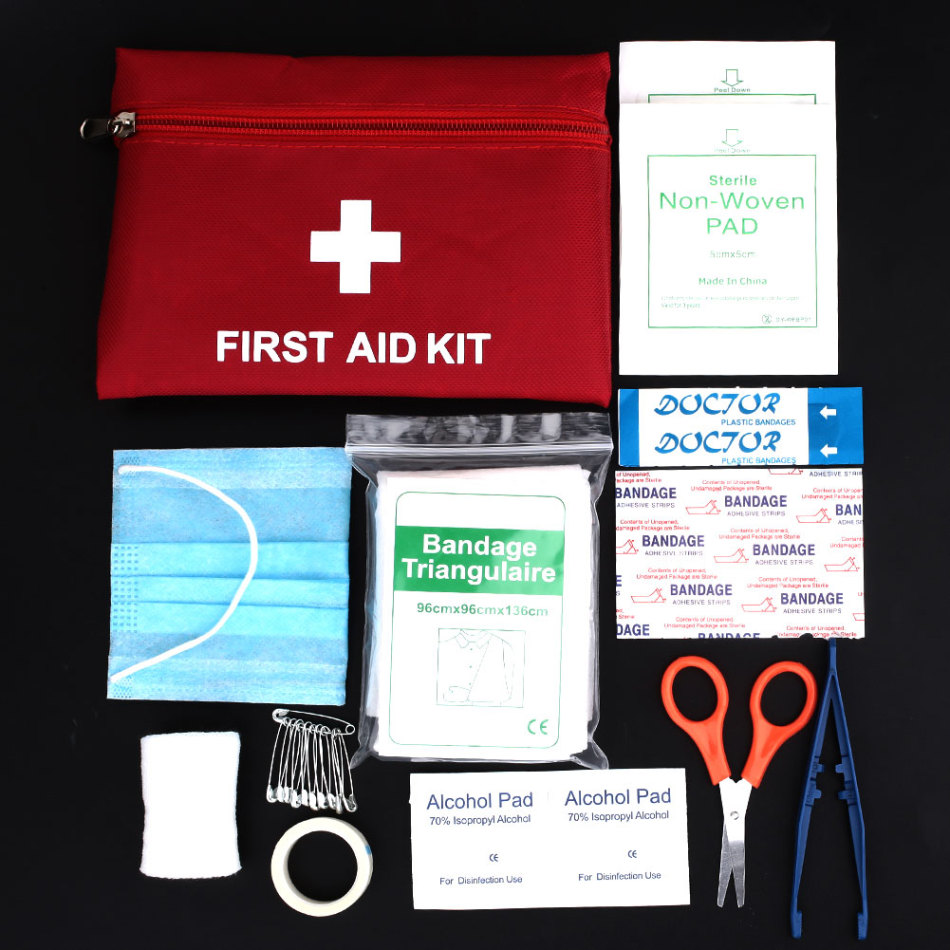 First Aid Kit 8/12 Kinds Drugs Waterproof Medical Box Multipurpose Emergency Medical Kit First Aid Bag Camp