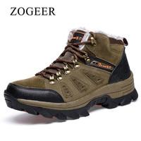 ZOGEER Brand Winter Shoes Men Big Size 38 47 Super Warm Men S Boots Casual Sneakers