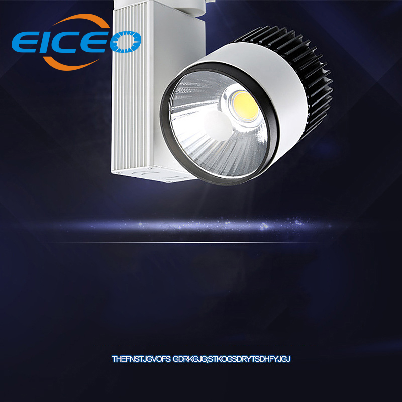 (EICEO) LED COB Track Light 10W 20W 30W Rail Lights Spotlight Clothing Shoe Shop Indoor Lighting  Warm Natural White AC220V led track light50wled exhibition hall cob track light to shoot the light clothing store to shoot the light window