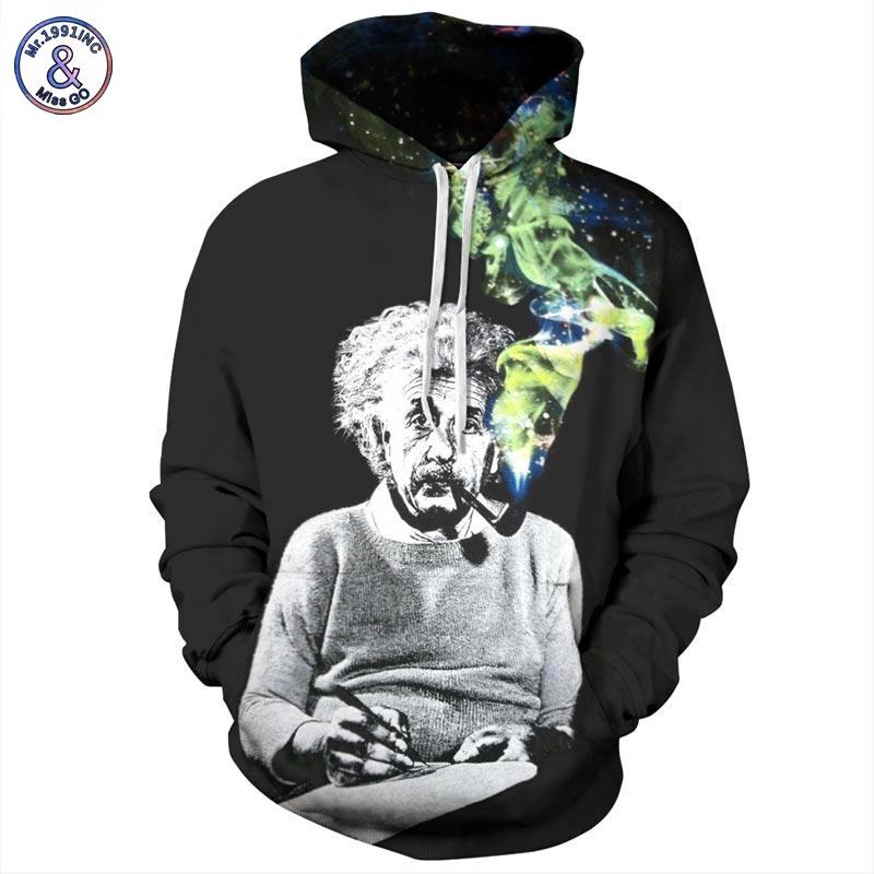 Mr.1991INC Einstein Hoodies Männer/Frauen Sweatshirts 3d Drucken Einstein Rauchen Dünne Unisex Mit Kapuze Trainingsanzüge Tops Pullover