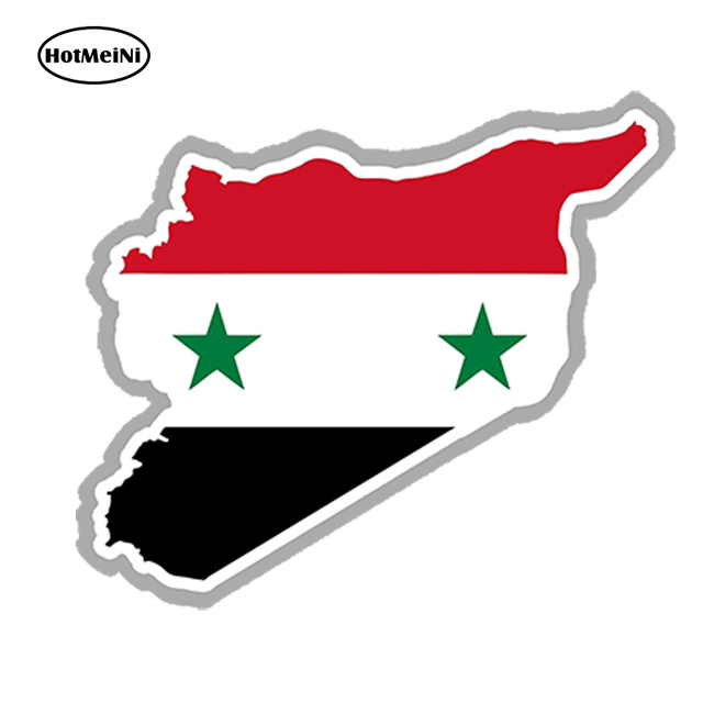 Hotmeini car styling syria map flag car sticker silhouette for bumper laptop door waterproof windows accessories