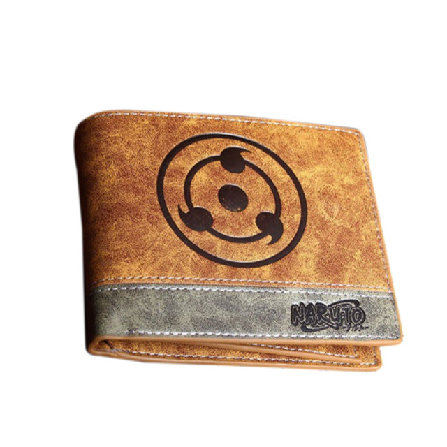 Naruto Sharingan Symbol PU Leather Short Bifold Wallet