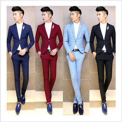 f1dcd41cef7 One Button Fashion Business Suits Tailored Vent Back Men Blazers Men Party Suit  Wedding Guest Dress 2015 Custom-Made A370