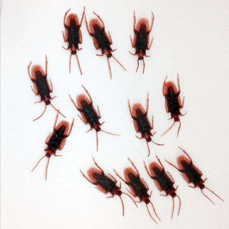 Tricky Novelty Toys Simulation Fake Cockroach Special Lifelike Roaches Model Funny Toys Party Favors Gift Christmas New Year