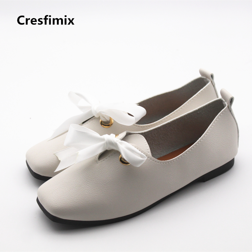 Cresfimix sapatos femininas women casual spring & summer loafers lady leisure soft lace up flat shoes female cool white shoes cresfimix sapatos femininas women retro white slip on flat shoes lady casual round toe spring flats female cute solid shoes