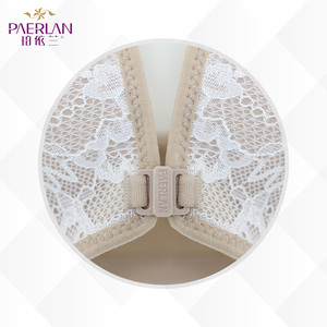 Image 3 - PAERLAN Seamless Wire Free lace Floral bra small breasts Push Up One   Piece sexy Front Closure underwear Women 3/4 Cup