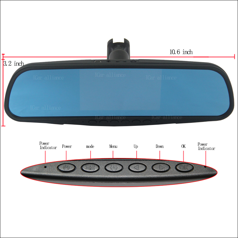 BigBigRoad For toyota highlander For fiat 500 Dual Lens Car Mirror DVR Camera Blue Screen Video Recorder Dash Cam bigbigroad for fiat linea ducato palio car dvr blue screen front camera rearview mirror video recorder car dual lens parking dvr