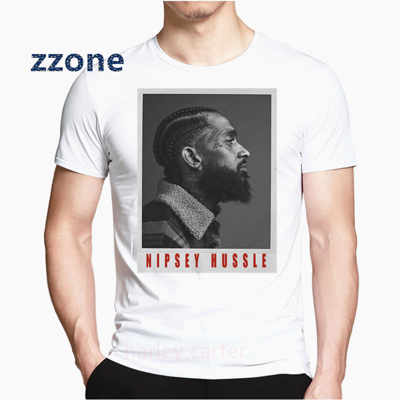 The Great Nipsey Printed Men   T     Shirt   2019 Hip Hop White Tshirt Harajuku Streetwear Rapper Nipsey Hussle Men Clothing HCP4570