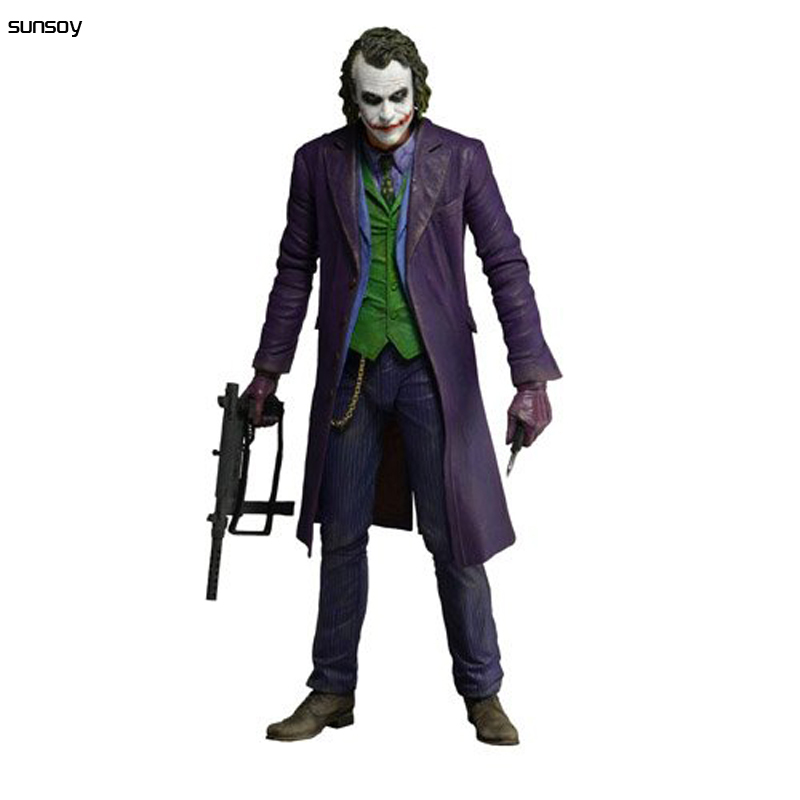 New Arrivel Playarts PLAY ARTS KAI Batman 1:4 Scale 60CM The Dark Knight and The Joker PVC Action Figure Colletible Model Toy pair of stylish rhinestone triangle stud earrings for women