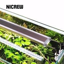 Nicrew SUNSUN ADE roślina wodna oświetlenie LED SMD akwarium Chihiros 220V 12W 14W 18W 24W Ultra cienki stop aluminium do akwarium