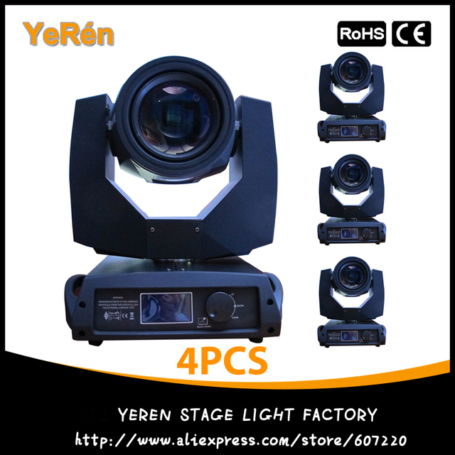 (4PCS) 5R Sharpy Beam 200W Moving Head Beam Light Pro Stage Lighting