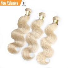 Alibd девственные волосы плетение пучки#613 блонд волнистые человеческие волосы ткет бразильские волосы пучки 3 шт в партии