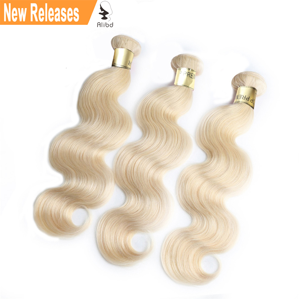 Alibd Virgin Hair Weave Bundles #613 Blonde Body Wave Human Hair Weaves Brazilian Hair Bundles 3pcs Lot Free Shipping