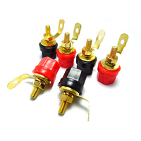 10pcs/lot Gold-plated Audio Terminal 4mm Banana Socket Jack