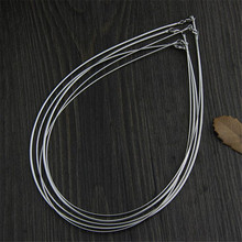 925 Silver Necklaces Women for Necklaces Width 1mm 1.50mm 2.00mm length 45cm Snake Chain S925 Thai Solid Silver Jewelry Making