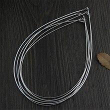 925 Collares de Plata de Las Mujeres para Collares Anchura 1mm 1.50mm 2.00mm longitud 45 cm Cadena de La Serpiente S925 Tailandés Fabricación de La Joyería de Plata maciza