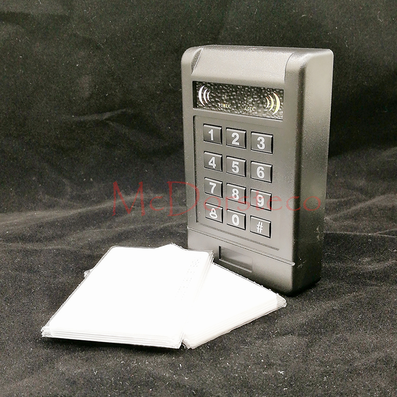 Contact-less 125khz RFID Proximity Card Access Control System RFID/EM Luminous Keypad Proximity Door Lock wiegand input mini access control keypad em card wiegand 26 output input with rfid keyfobs 125khz for door lock security system