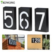 Солнечный адрес номерной знак лампа на солнечных батареях номер дома Doorplate лампы 6 светодиодный светильник s двери отеля цифровой солнечный светильник