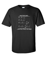 GILDAN And God Said And Then There Was Light Match Science Religious Funny t shirt