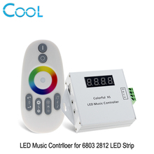 Colorful LED Music Controller DC12-24V Magic LED Tape Digital With RF Touch Remote Controller For 6803 2812 Strip