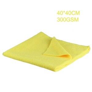 Image 5 - 1 sztuk nowy ręcznik z mikrofibry Auto Detailing 40x40cm 300GSM Ultra miękki ręcznik bez krawędzi idealny do myjnia samochodowa do pielęgnacji lakieru akcesoria