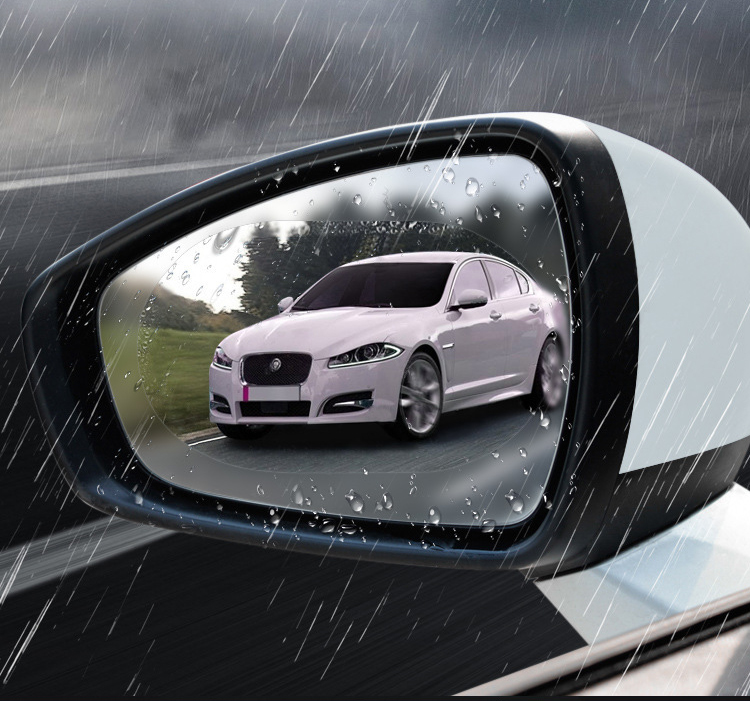 2Pcs Car Rear Mirror Protective Film Rainproof Anti Fog Anti Glare Auto Anti Mist Window Film Rearview Mirror Clear Foil (1)