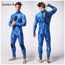 Фотография Chloroprene rubber blue camouflage diving suit hunting diving suit men