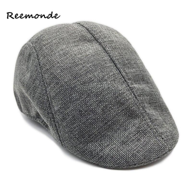 New Spring Summer Men Women Beret Canvas Cap Visor Casquette Outdoor Hat