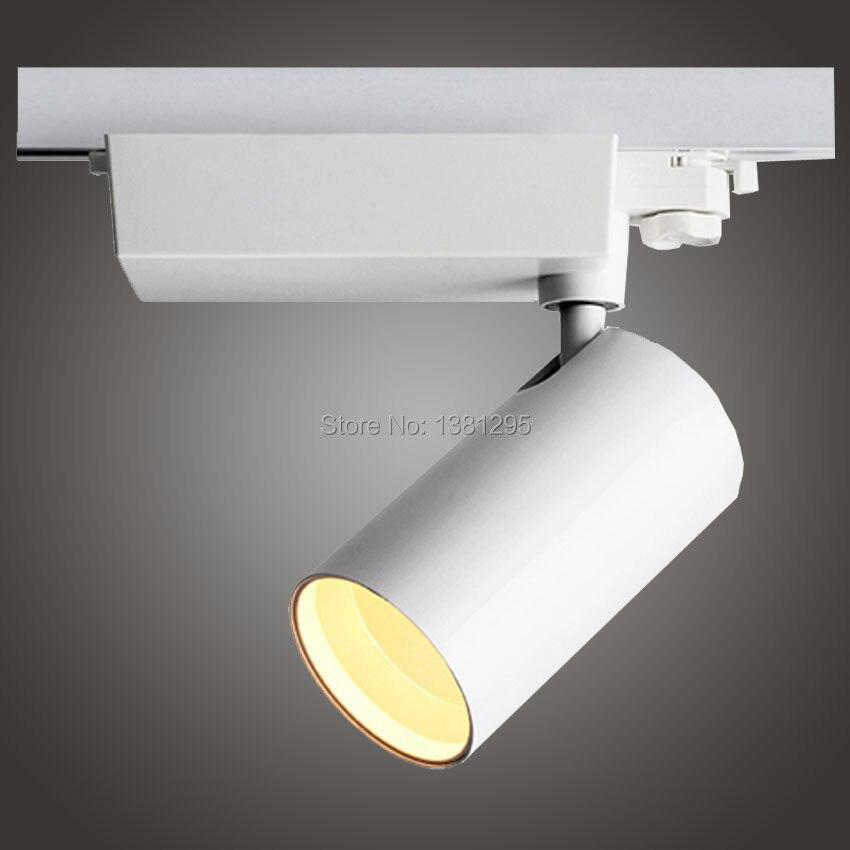 High Quality Modern Led Reflector Track Light Rail Spot Lamp Cree Cob 20w 30w 40w Supermarket Osvetleni Lighting In From