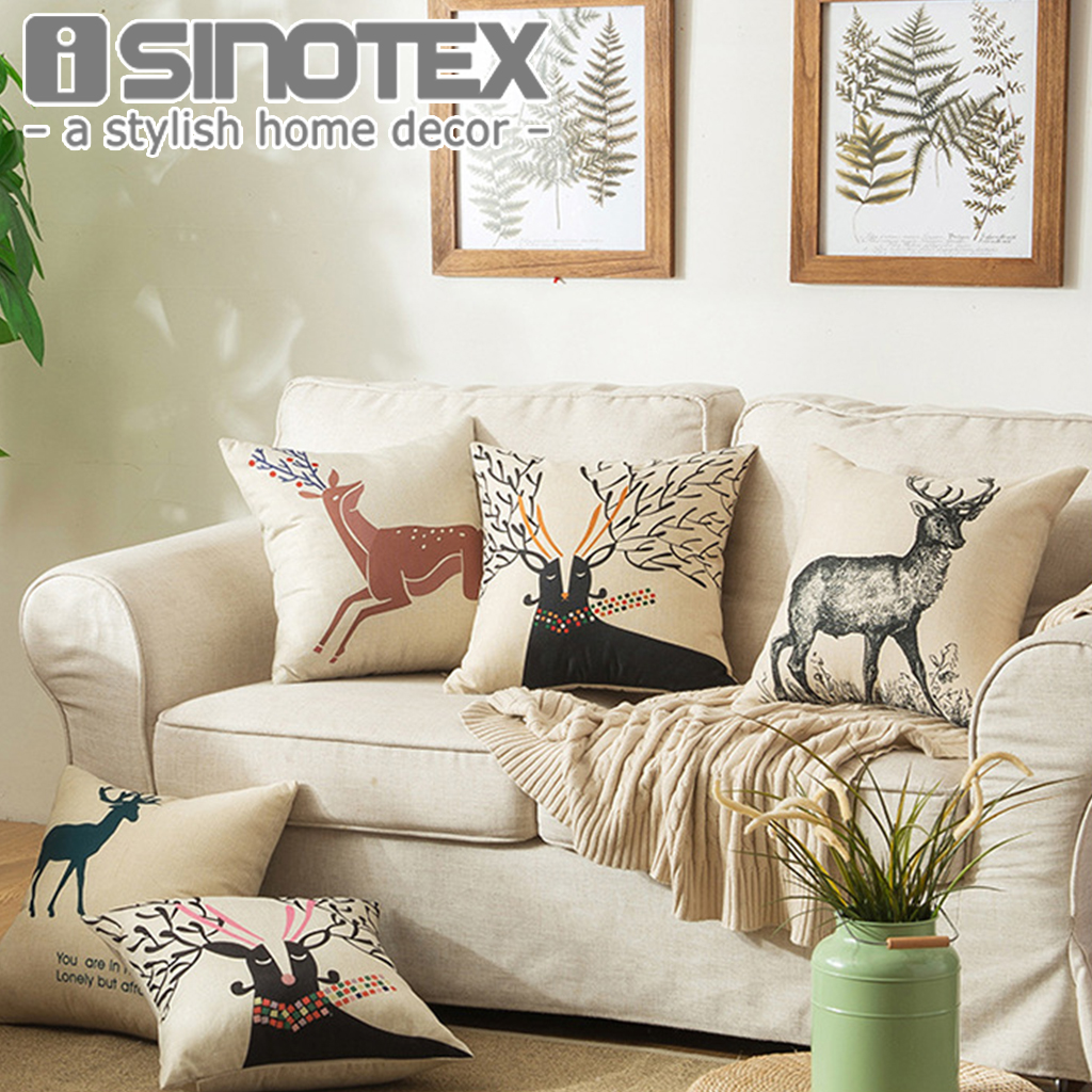 moose print cushion cover promotion shop for promotional moose