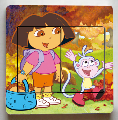 3 Pcs/Lot Dora The Explorer Switch Stickers,Cute Dora The Explorer Wall  Stickers Part 35